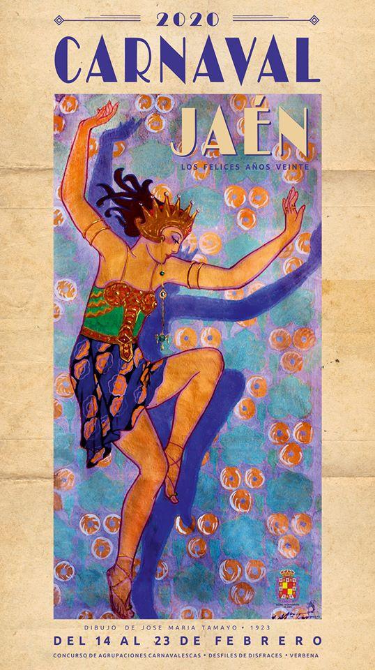 Cartel Carnavales Jaén 2020