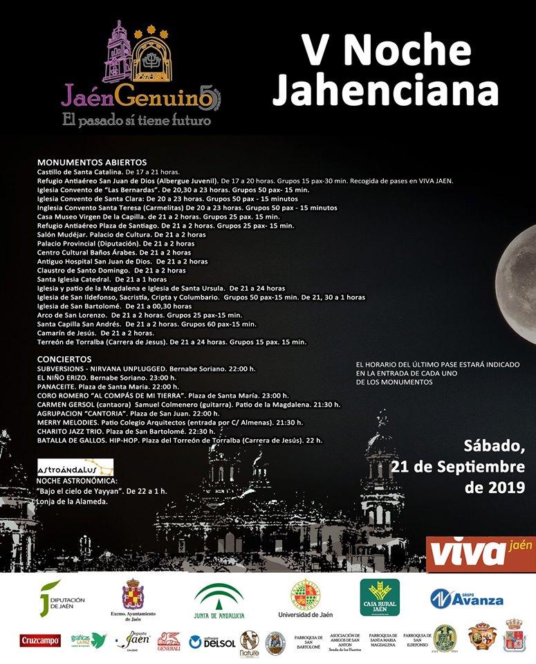 Cartel V noche Jahenciana